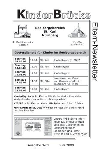 Eltern-Newsletter Seelsorgebereich St. Karl