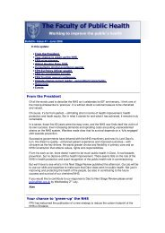FPH Newsletter - UK Faculty of Public Health