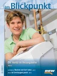 Blickpunkt Ausgabe 02/2011 - BEW Bergische Energie- und Wasser ...