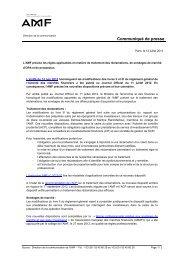 L'AMF précise les règles applicables en matière de ... - Anacofi