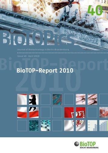 BioTOP-Report 2010 - Berlin Partner GmbH