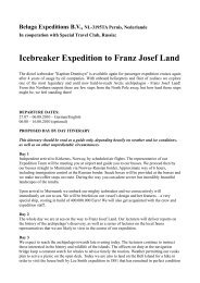Icebreaker Expedition to Franz Josef Land - Terrapolaris