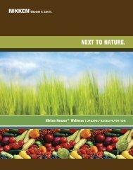 Nutrition Brochure - Nikken Wellness Products & Nikken Magnetics