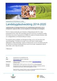Landsbygdsutveckling 2014-2020 (PDF) - Sveriges Kommuner och ...