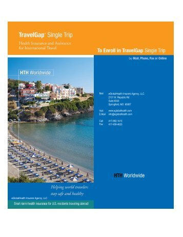 download our Travel GAP Series Brochure - eGlobalHealth
