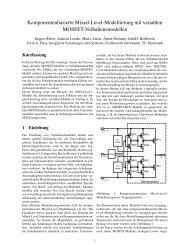 Komponentenbasierte Mixed-Level-Modellierung mit variablen ...