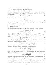 1 Fouriertransformation wichtiger Funktionen