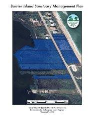 Barrier Island Sanctuary Mangement Plan - Brevard County