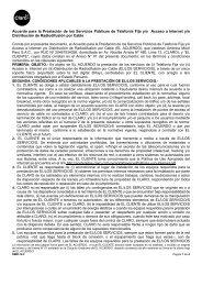 Acuerdo para la prestación de los servicios de Telefonía Fija ... - Claro