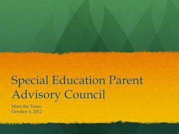 Special Education Parent Advisory Council - Natick Public Schools