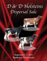 view sale catalog here! - Red & White Dairy Cattle Association