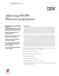 Addressing OS/390 Web server performance. - IBM