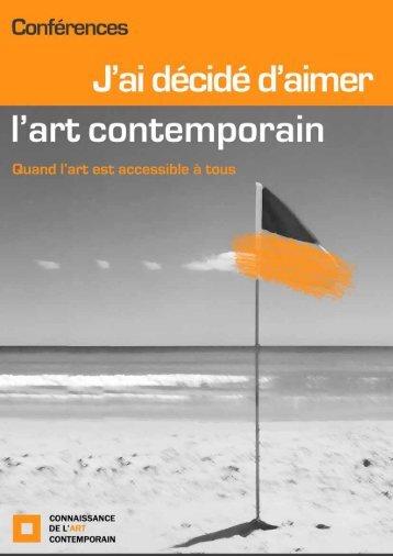 programme - Connaissance de l'Art Contemporain