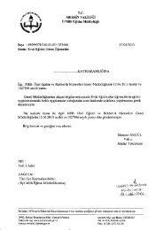 Yazı ve Eki - Mersin İl Milli Eğitim Müdürlüğü