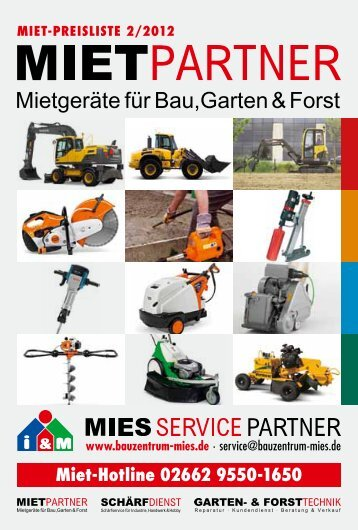 Miet-Hotline 02662 9550-1650 - Bauzentrum Mies