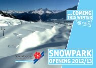 Snowpark Speikboden by F-Tech