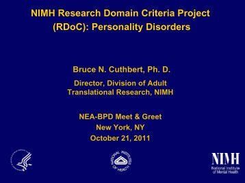 RDoC - Borderline Personality Disorder