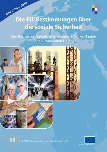 Die EU-Bestimmungen über die soziale Sicherheit – Ihre - Europa