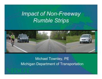 Impact of Non-Freeway Rumble Strips