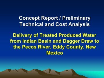 Concept Report / Preliminary Technical and Cost Analysis
