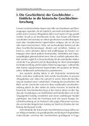 I. Die Geschichte(n) der Geschlechter – Einblicke in die historische ...