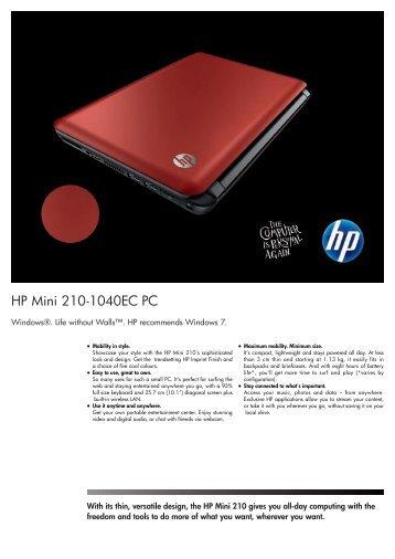 PSG Consumer 1C10 HP Notebook Datasheet - HPmarket.cz
