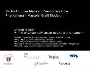 Vector Doppler Maps and Secondary Flow Phenomena in ... - SUPA