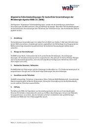 Allgemeine Teilnahmebedingungen für kostenfreie ... - wab.biz
