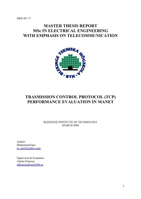 masters thesis electrical engineering