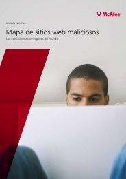 Mapa de sitios web maliciosos - McAfee