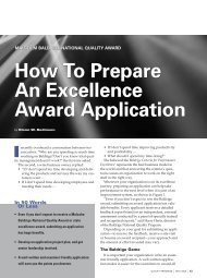 How to Prepare an Excellence Award Application - Tennessee ...