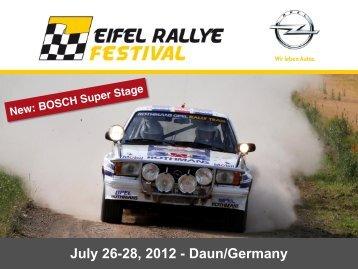 July 26-28, 2012 - Daun/Germany - Eifel Rallye Festival