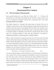 Measurement Error Analysis - Yidnekachew