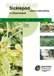 Sicklepod in Queensland - Department of Primary Industries