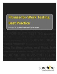 Fitness-for-Work Testing Best Practice