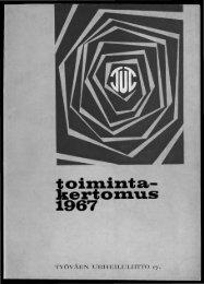 toiD1inta- kertoD1u.s 1967 - Urheilumuseo