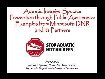 Aquatic Invasive Species Prevention through Public Awareness ...