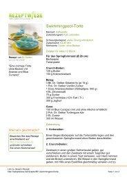 Swimmingpool-Torte - Rezeptwiese