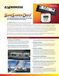SunSaver Duo Datasheet (German)