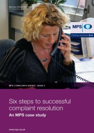 six steps to successful complaint resolution - Medical Protection ...