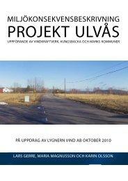 Miljökonsekvensbeskrivning, oktober 2010 - Rabbalshede Kraft