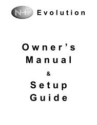 Owner's Manual Setup Guide - NHT