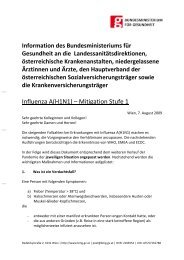Influenza A(H1N1) – Mitigation Stufe 1