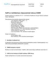 HaiPro ohjausryhmän kokousmuistio 6.10.2009 - Awanic Oy