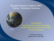 Drought Research Initiative (DRI) Theme 1 Workshop Overview