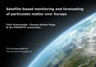 Satellite based monitoring and forecasting of particulate matter