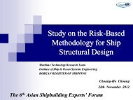 4. Study on the Risk-Based Methodology for Ship Structural Design