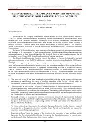 THE SEVESO II DIRECTIVE AND DANISH ACTIVITIES SUPPORTING ITS ...