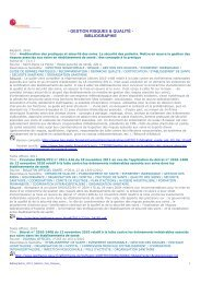 - GESTION RISQUES & QUALITÉ - BIBLIOGRAPHIE - Ascodocpsy