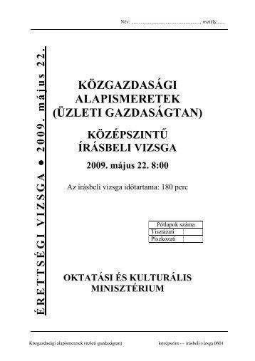 KÖZGAZDASÁGI ALAPISMERETEK (ÜZLETI GAZDASÁGTAN) ce3387bc2d